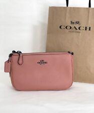NWT Coach 53077 Nolita 19 Wristlet Pebble Leather Purse Handbag Melon Pink $125