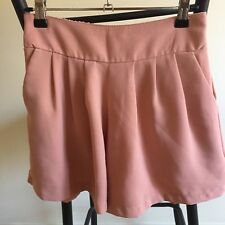 Blush high waisted pleated Chiffon shorts size 6-8 Great condition