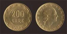 200 LIRE 1988 LAVORO - ITALIA FDC/UNC FIOR DI CONIO