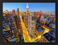 MANHATTAN NYC SKYLINE NEW A3 FRAMED PHOTOGRAPHIC PRINT POSTER
