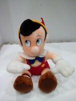 "Disney Pinocchio Plush Toy Stuffed Disneyland Walt Disney World 11"" Sitting VTG"