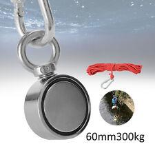 300KG 67mm Neodym Bergemagnet Doppel Suchmagnet Magnetangeln Magnet Fischen DHL