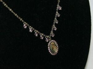 """LIZ PALACIOS SF Purple Crystal Necklace 17"""""""