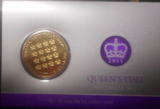 Australia 2011 Queens Visit  $5 Coin + CHOGM $1 in card UNC