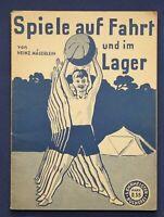 Mägerlein Spiele auf Fahrt und im Lager um 1930 Kinder Sport Freizeit  sf