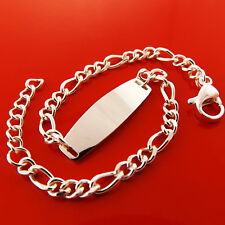 INITIAL ID BRACELET 925 SOLID STERLING SILVER S/F CHILDREN KIDS BABY SIZE DESIGN
