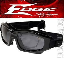 Edge Speke Smoke Lens Safety Goggles Rxable Glasses Motorcycle Shooting Z87+