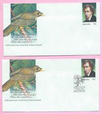 AUSTRALIA 1989 PAIR of PSE's - FDC & Mint - HENRY KENDALL - Shs Milton