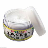 Snazaroo 50ml CLOWN WHITE Special FX Halloween Goth Face Body Paint Make Up