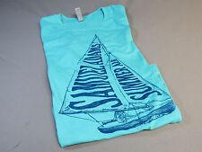 Samuel Adams Summer Ale Womens M T Shirt Tee top beer bar draft blue boston New