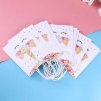 10pcs Paper Bag Reusable Unicorn Gift Bags Candy Bags for Birthday Party Wedding