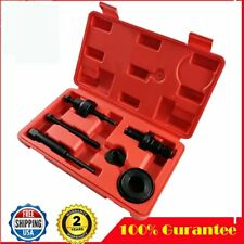 6pc Power Steering Pump Pulley Puller Remover Install Tool Kit for GM Ford C2 US