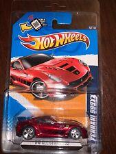 Hot Wheels 2012 All Stars Red Super Ferrari 599XX Treasure Hunt Real Riders