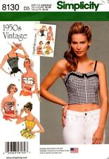 Simplicity Sewing Pattern 8130 Vintage Tops and Cropped Tops Ladies Sizes 4-12