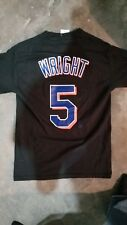 David Wright NY Mets Majestic Jersey Shirt Size Small MLB Black The Captain #5