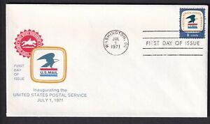 US 1971 FDC USPS Emblem Scott 1396 8c First Day Cover Sale Washington