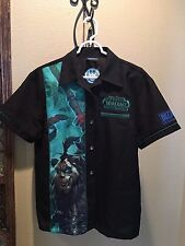 World of Warcraft Blizzard Employee Bowling Shirt MISTS OF PANDARIA SIZE: sm, LG