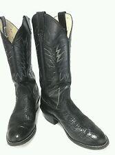 NOCONA Black Leather Western COWBOY Boots Sz 6.5 D Men 7.5/8 Women NICE USA
