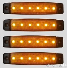 4 x color ambra 6 LED 12V INDICATORE LATERALE LUCE HGV Furgone Rimorchio CAMPER
