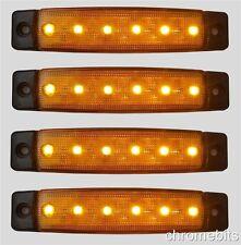 4 x Ambre 6 LED 12V CLIGNOTANT Poids Lourds BUS remorque utilitaire camping-car