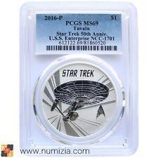 TUVALU 1 Dollar 2016 Star Trek 50º Aniversario (MS69) Certificada PCGS STAR TREK