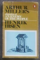 RARE COVER'77 BOOK Henrik Ibsen/Arthur Miller Adaptation An Enemy Of the People!