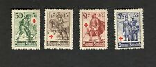 1940 Suomi Finland SC #B39-42 RED CROSS AID - SOLDIERS MH stamps