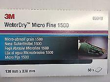 3M 02048 Wet/Dry Abrasive Paper  P1500 50 SHEETS