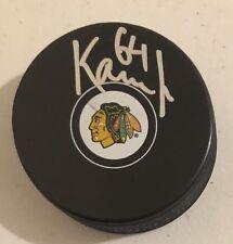 David Kampf Signed Autographed Chicago Blackhawks Logo Puck Stanley Cup Coa