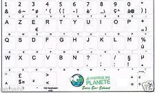 Stickers Autocollants AZERTY pour Touches de Clavier PC Portable Acer Blanc