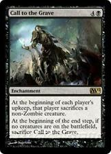 CALL TO THE GRAVE M12 Magic 2012 MTG Black Enchantment RARE