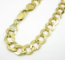 "13 Grams 8mm 9"" Mens 10k Yellow Gold Franco Curb Cuban Miami Bracelet"