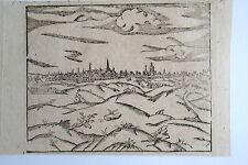 44-52-2 Gravure carte Sébastien Munster vue de la ville d'Arras époque fin 16e