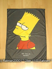 Fahnen Posterflagge - Bart Simpson Rot - 48 x 66 cm