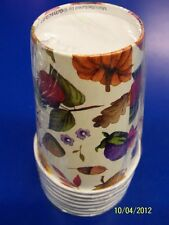 Bountiful Season Fall Autumn Harvest Thanksgiving Banquet Party 9 oz. Paper Cups