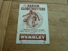 More details for 1957 original harlem globetrotters v uss london hand signed by 7 players
