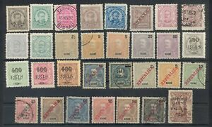 PORTUGAL GUINE - 31 CLASSIC STAMPS - 1886-1913 - MINT/HINGED - FINE USED