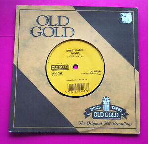 """A150, Things, Bobby Darin, Old Gold, 7""""45rpm Single, Excellent Condition"""