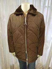 Gordon & Ferguson Sz 44 Field & Stream Brown Jacket Fur Inside