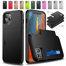 For iPhone 12 11 Pro Max XS Wallet Case Credit Card Slim Holder Armor Case Cover
