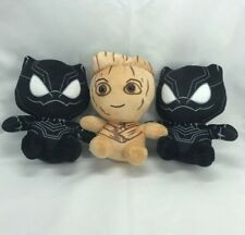 Groot and Black Panther Plushie Soft Toy 20cm Avengers Endgame