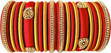 Wedding Bride Chuda Silk Thread Wrapped Bangle Set New Indian Fashion Jewelry2*6