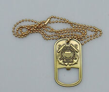 U.S Coast Guard Dog Tag-Bottle Opener Style Necklace with a Bronze Alloy Pendant