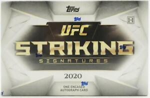 2020 Topps UFC Striking Signatures Factory Sealed HOBBY BOX-Encased AUTOGRAPH!