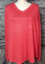 Calvin Klein Coral V Neck Sweater Womens L