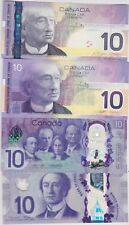 More details for four different $10 canada 2001 to 2017 bank notes in mint condition