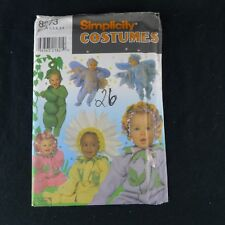 Simplicity Toddler Costume Pattern 8273 Uncut Flowers Peas Bugs Size .5 - 4