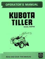 Kubota Ad70 Ad 70 Tiller Operators Manual