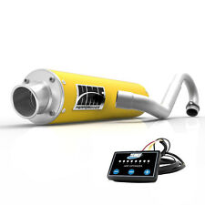 HMF Performance Full System Exhaust Muffler Yellow + EFI Optimizer Can Am DS 450