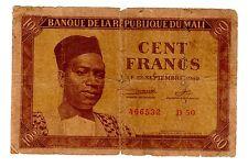 MALI  Billet 100 Francs  1960  P2 PRESIDENT (1)